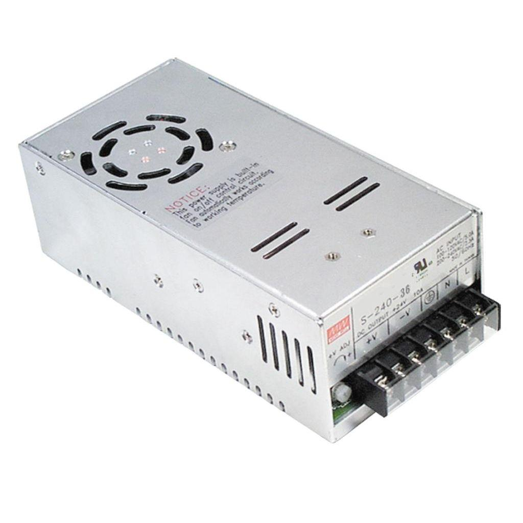 Mean Well S-240-48 AC/DC Box Type - Enclosed 48V 5A Power Supply