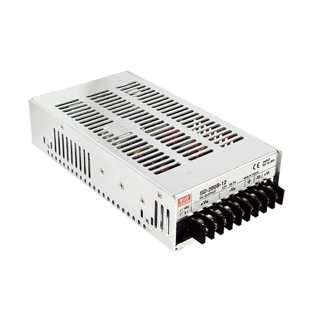 Mean Well SD-200C-12 DC/DC Box Type - Enclosed 12V 16.7A Converter