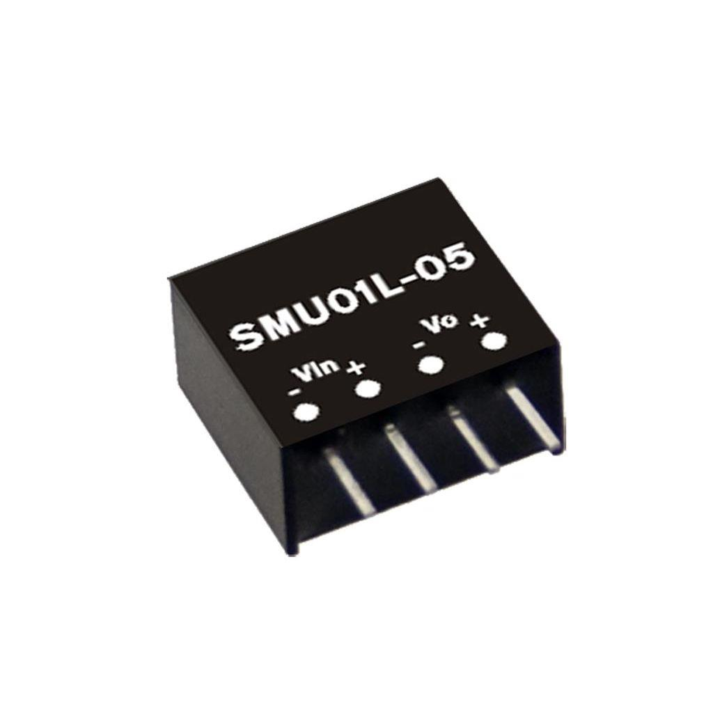 Mean Well SMU01N-15 DC/DC PCB Mount - Through Hole 15V 0.067A Converter