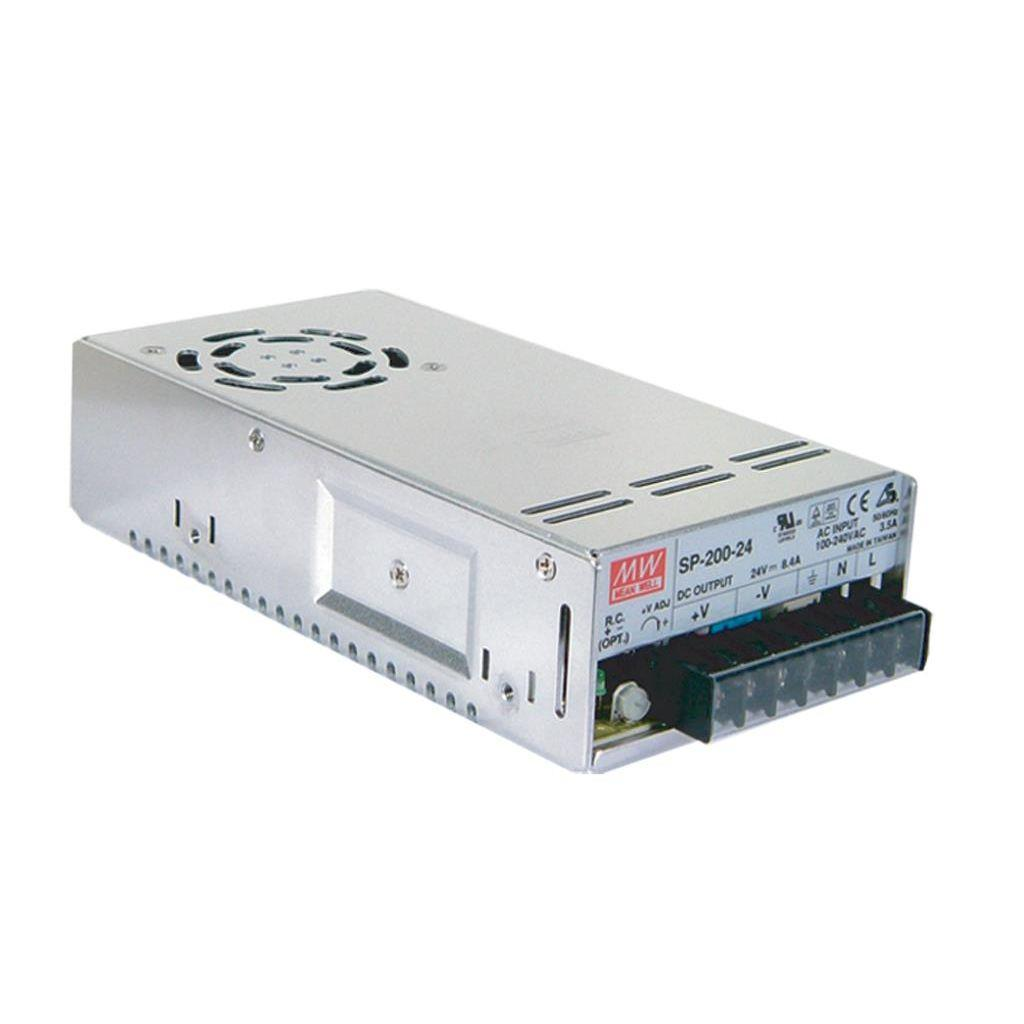 Mean Well SP-200-24 AC/DC Box Type - Enclosed 24V 4A Power Supply