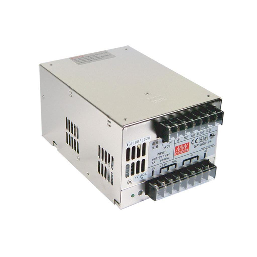 Mean Well SP-500-24 AC/DC Box Type - Enclosed 24V 20A Power Supply