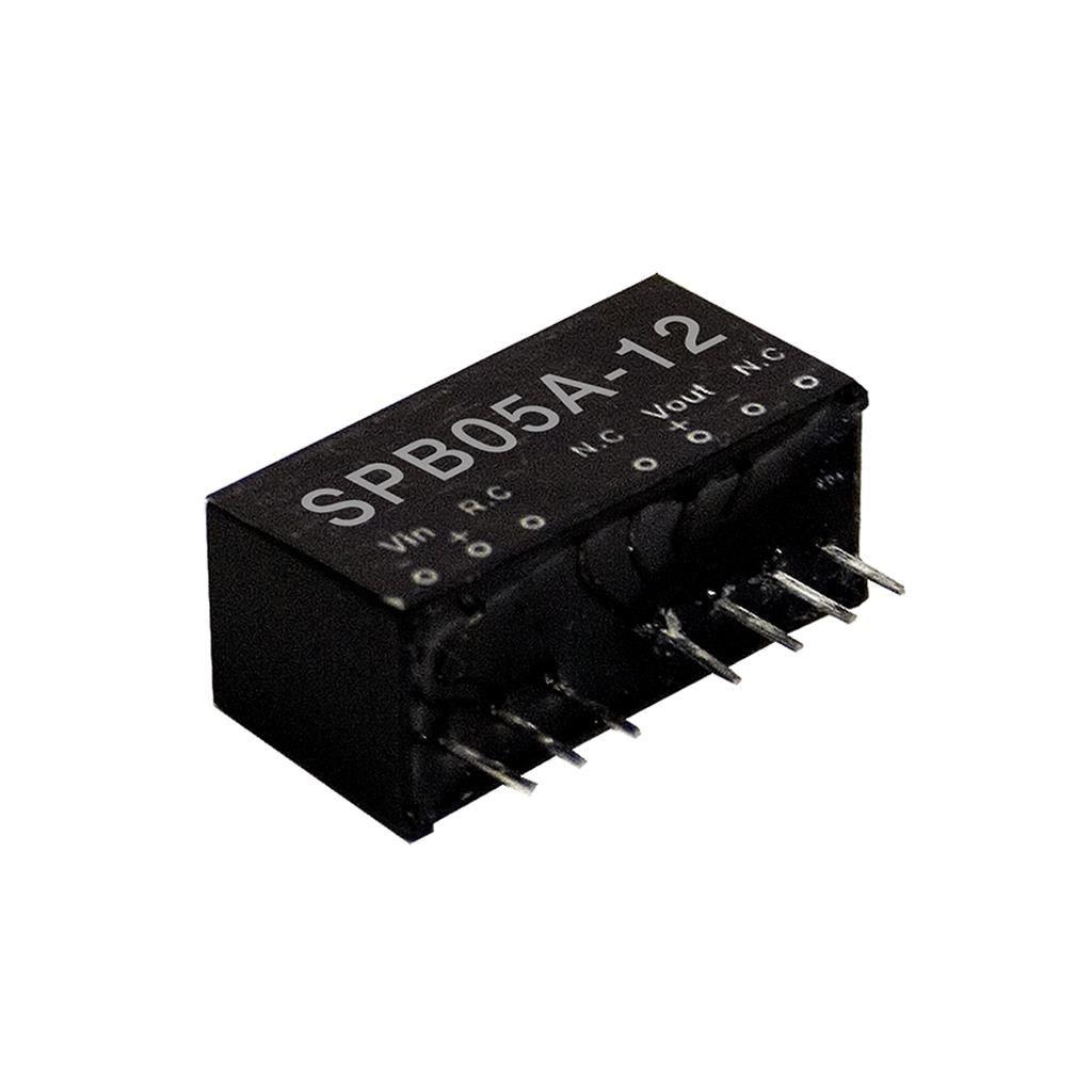 Mean Well SPB05A-12 DC/DC PCB Mount - Through Hole 12V 0.417A Converter