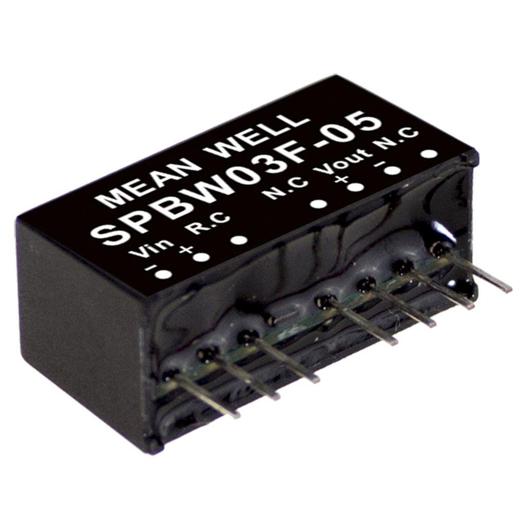 Mean Well SPBW03G-05DC/DC PCB Mount - Through Hole 5V 0.6A Converter