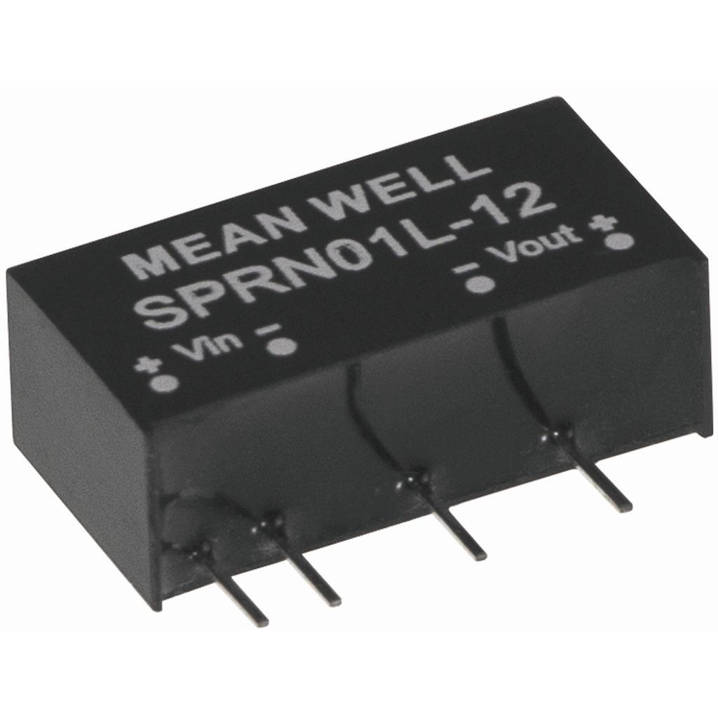 Mean Well SPRN01M-15 DC/DC PCB Mount - Through Hole 15V 67A Converter