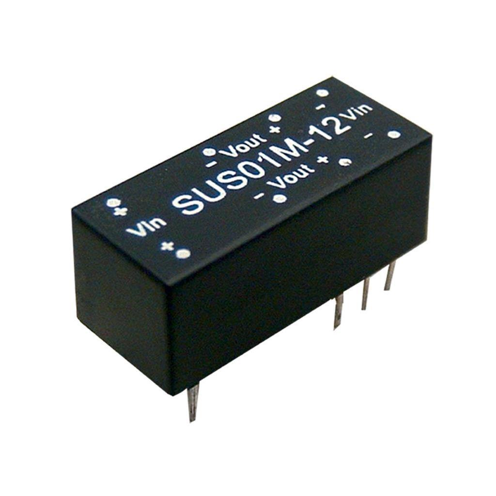 Mean Well SUS01M-15 DC/DC PCB Mount - Through Hole 15V 0.067A Converter