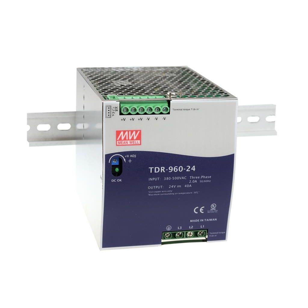 Mean Well TDR-960-48 AC/DC DIN Rail 48V 20A Power Supply