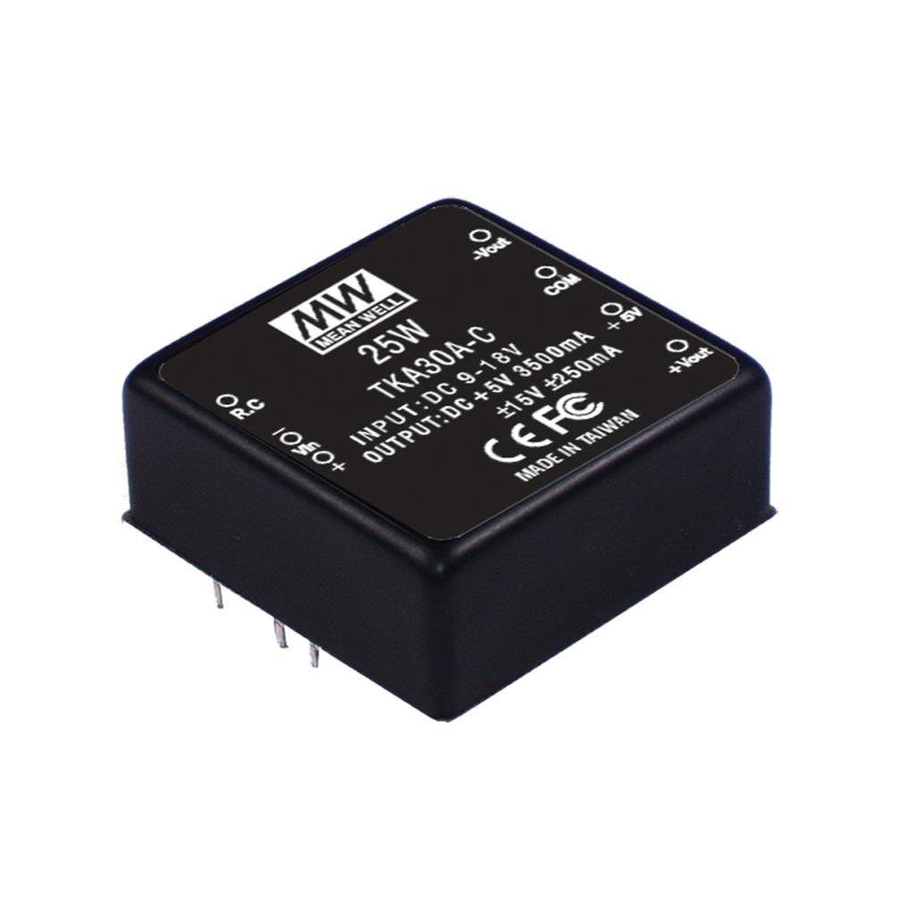 Mean Well TKA30A-B DC/DC PCB Mount - Through Hole 5V 3.5A Converter