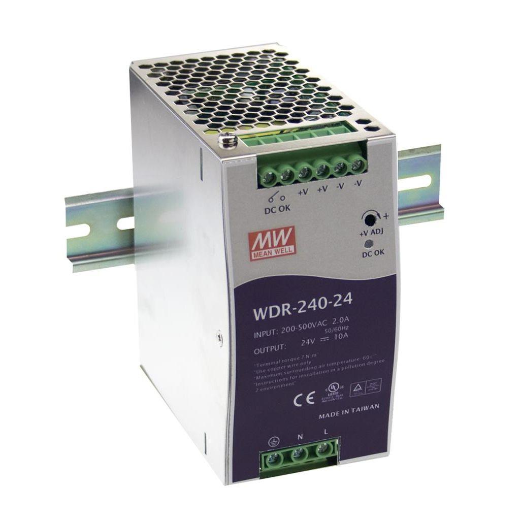 Mean Well WDR-240-48 AC/DC DIN Rail 48V 5A Power Supply