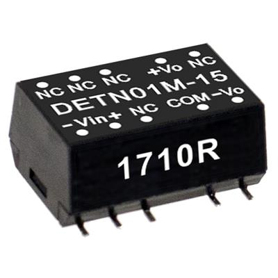 Mean Well DETN01M-12 DC/DC PCB Mount - SMD 12V 0.042A Converter