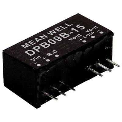 Mean Well DPB09B-15 DC/DC PCB Mount - Through Hole +-15V +-0.3A Converter