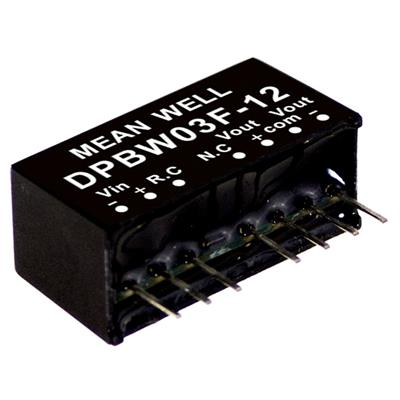 Mean Well DPBW03G-15DC/DC PCB Mount - Through Hole +-15V 0.1A Converter