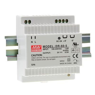 Mean Well DR-60-12 AC/DC DIN Rail 12V 4.5A Power Supply