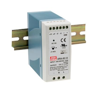 Mean Well DRA-40-24 AC/DC DIN Rail 24V 1.7A Power Supply