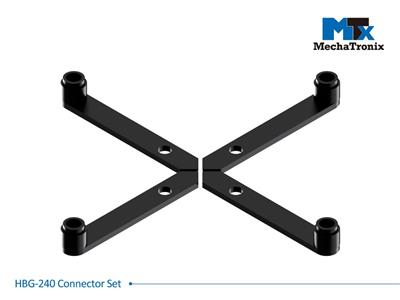 Mechatronix HBG-240 CONNECTOR SET Connector set for Mean Well HBG-240 LED drivers with all ModuLED-HBG and CoolBay® series LED coolers. Creates a 11mm gap between the cooler and driver