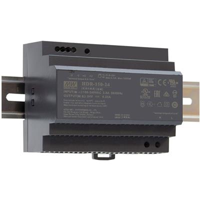 Mean Well HDR-150-12 AC/DC DIN rail 12V 11.3A Power Supply