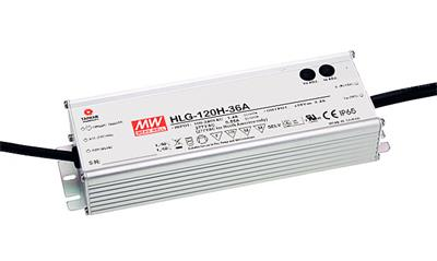 Mean Well HLG-120-24B AC/DC C.V. C.C. Box Type - Enclosed 24V 5A Power Supply