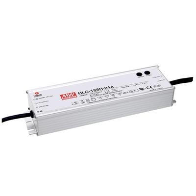 Mean Well HLG-185H-30B AC/DC C.V. C.C.  Box Type - Enclosed 30V 6.2A Single output LED driver
