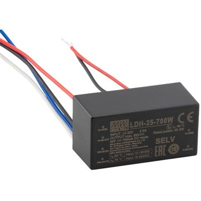 Mean Well LDH-25-350W DC/DC Encapsulated 72V 0.35A LED Driver