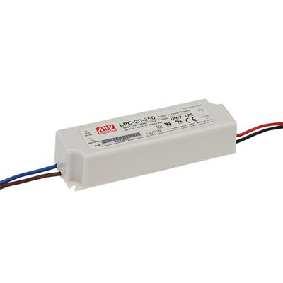 Mean Well LPC-20-350 AC/DC C.C. Box Type - Enclosed 48V 0.35A Single output LED driver