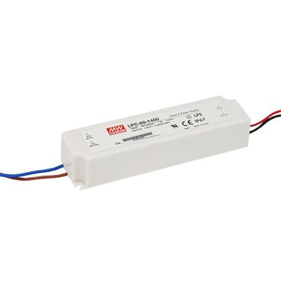 Mean Well LPC-60-1400 AC/DC C.C. Box Type - Enclosed 42V 1.4A Single output LED driver