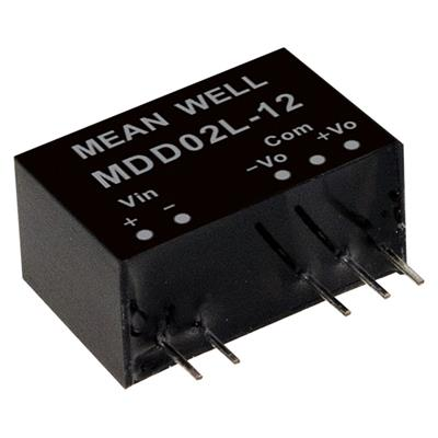 Mean Well MDD02N-15 DC/DC PCB Mount - Through Hole +-15V +-0.067A medical Converter