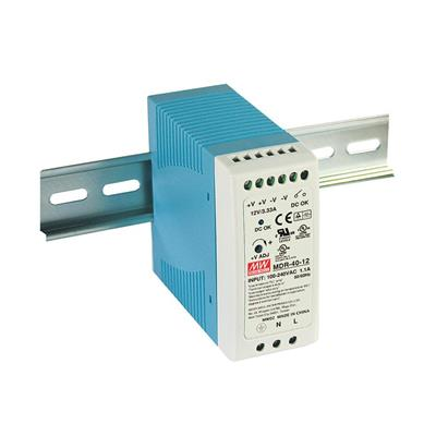 Mean Well MDR-40-12 AC/DC DIN Rail 12V 3.33A Power Supply