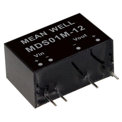 Mean Well MDS01M-15 DC/DC PCB Mount - Through Hole 15V 0.067A medical Converter