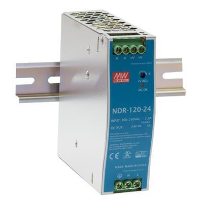 Mean Well NDR-120-48 AC/DC DIN Rail 48V 5A Power Supply