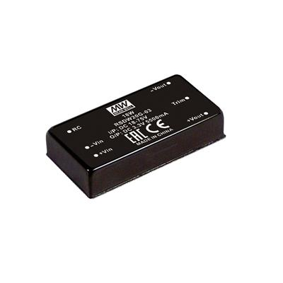 Mean Well RSDW20G-12 DC/DC PCB Mount - Through Hole 12V 1.67A Converter
