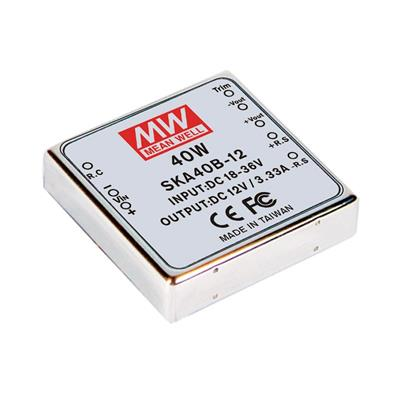 Mean Well SKA40A-15 DC/DC PCB Mount - Through Hole 15V 2.67A Converter