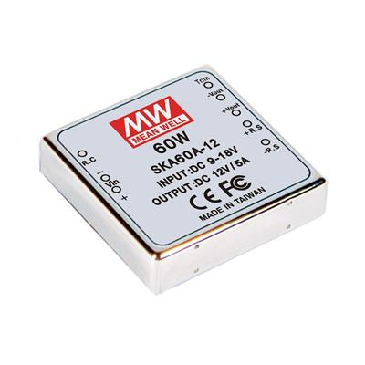 Mean Well SKA60A-12 DC/DC PCB Mount - Through Hole 12V 5A Converter