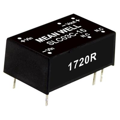 Mean Well SLC03A-12 DC/DC PCB Mount - Through Hole 12V 0.25A Converter