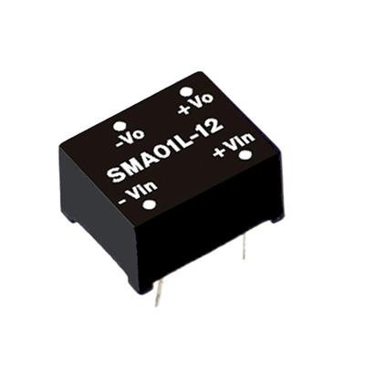 Mean Well SMA01N-12 DC/DC PCB Mount - Through Hole 12V 0.084A Converter