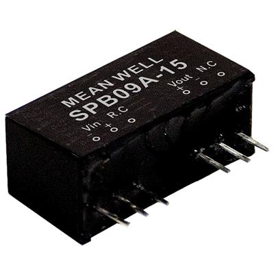 Mean Well SPB09B-15 DC/DC PCB Mount - Through Hole 15V 0.6A Converter