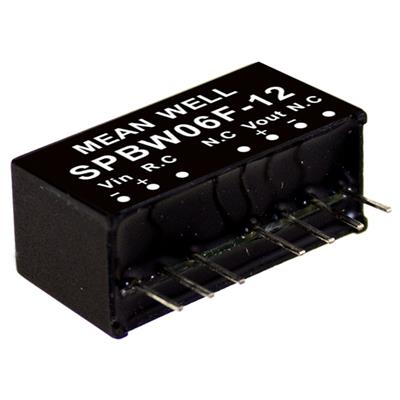Mean Well SPBW06F-12DC/DC PCB Mount - Through Hole 12V 0.25A Converter