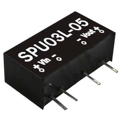 Mean Well SPU03M-12 DC/DC PCB Mount - Through Hole 12V 0.25A Converter