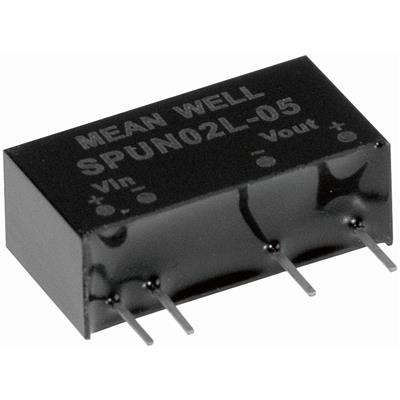 Mean Well SPUN02M-05 DC/DC PCB Mount - Through Hole 5V 0.4A Converter