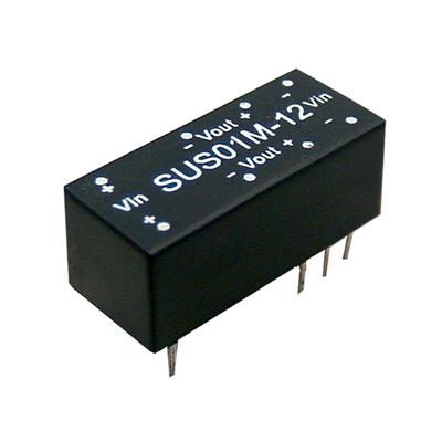 Mean Well SUS01L-12 DC/DC PCB Mount - Through Hole 12V 0.084A Converter